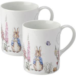 Beatrix Potter Peter Rabbit Classic Mugs Set of 2