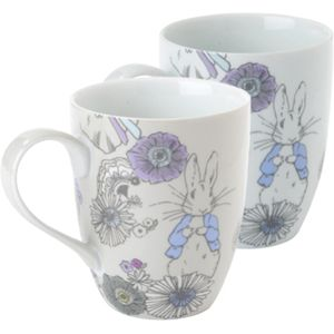 Peter Rabbit Contemporary design Set of 2 Mugs