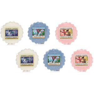 Yankee Candle Wax Melts 6 Pack - Floral Fragrances