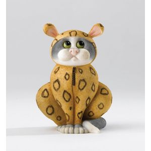 Comic & Curious Cats Onesie Cat Figurine