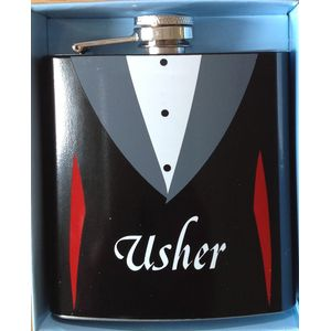 Usher Hip Flask Wedding Gift