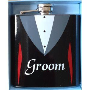 Wedding Party Hip Flask - Groom