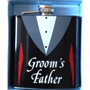 Grooms Father Hip Flask Wedding Gift
