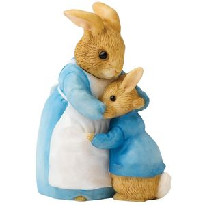 Beatrix Potter Mrs Rabbit & Peter Mini Figurine