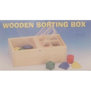 Wooden Toy shape sorting box.