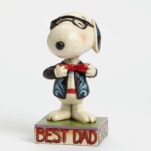 Heartwood Creek Snoopy Best Dad Fathers Day Figurine