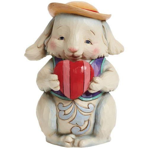 Heartwood Creek Rabbit holding Heart by Jim Shore Figurine Ref: 4041775