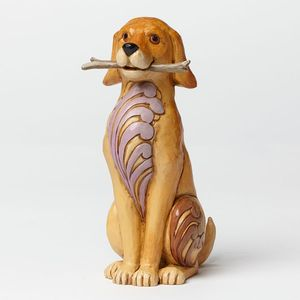 Heartwood Creek Dogs at Play Figurine - Brewster (Dog with Stick)
