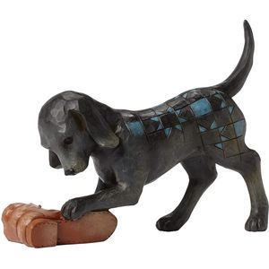 Heartwood Creek Dogs at Play Figurine - Buster (Dog with Shoe)