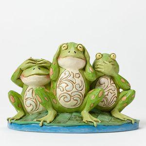 Heartwood Creek Croak no Evil Frogs Figurine
