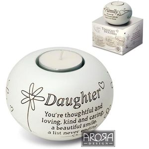 Said with Sentiment Candle Holder: Daughter
