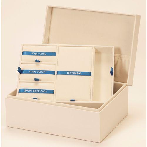 Mele & Co Leatherette Baby Keepsake Memory Box - Boy Blue
