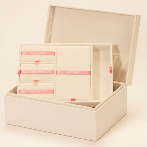 Mele & Co Leatherette Baby Keepsake Memory Box - Girl Pink