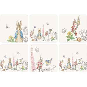 Peter Rabbit Classic Design Set of 6 Coasters