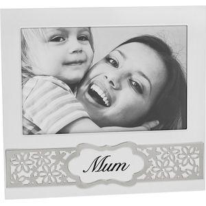 "Mum Daisy Flowers Sentiment Photo Frame 6x4"""