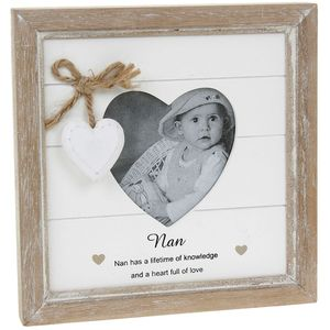 Provence Message Heart Photo Frame - Nan