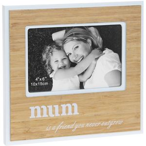 "Bamboo Sentiment Photo Frame 6x4"" - Mum"