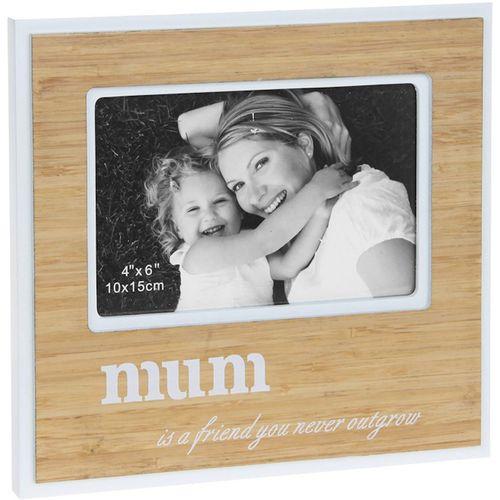 "Bamboo Sentiment Photo Frame - Mum 6"" x 4"""
