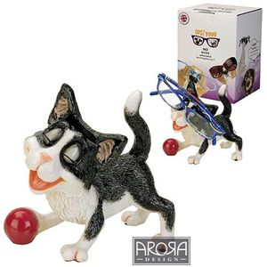Optipaws Black & White Cat Glasses Holder