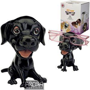 Optipaws Black Labrador Dog Glass Holder Ornament