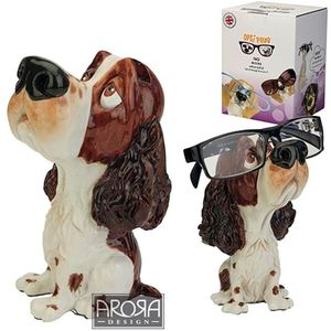 Optipaws Liver/White Springer Spaniel Dog Glasses Holder