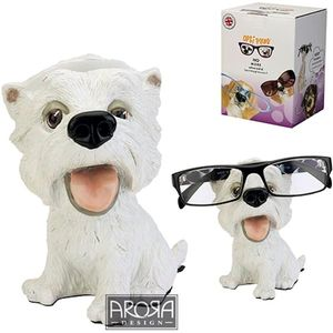 Optipaws Westie Dog Glasses Holder Ornament