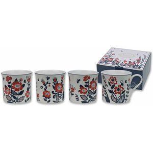 Princess Nordic Set of 4 Fine Bone China Mugs