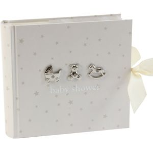 "Juliana Bambino Photo Album Holds 80 4"" x 6"" Prints - Baby Shower"