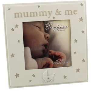 "Bambino Resin Photo Frame 4"" x 4"" ""Mummy & Me"""