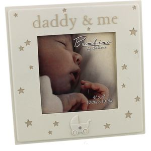 "Bambino Resin Photo Frame 4"" x 4"" ""Daddy & Me"""