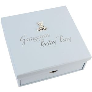 Keepsake Box with Drawer & Album Gorgeous Baby Boy