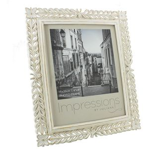 """Classical Antique White Resin Photo Frame 6x8"""""""
