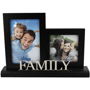 Black Double Photo Frame - Family
