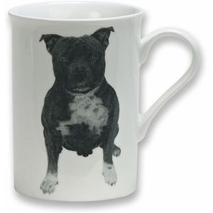 Heath McCabe Gift Boxed Fine China Mug - Staffordshire Bull Terrier Dog