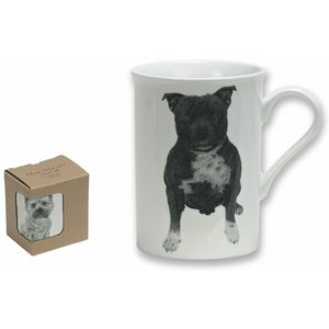 Heath McCabe Staffordshire Bull Terrier Fine China Mug