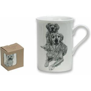Heath McCabe Golden Retriever Fine China Mug