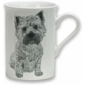 Heath McCabe Gift Boxed Fine China Mug - West Highland Terrier Dog