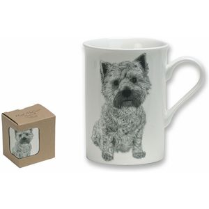 Heath McCabe West Highland Terrier Fine China Mug