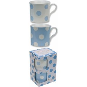 Countess Duo Blue & White Spot Mugs Set of 2