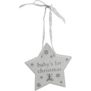 Bambino Christmas Tree Hanging Decoration - Baby's 1st Christmas Star