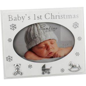 "Juliana Bambino Photo Frame 6x4"" - Babys 1st Christmas"
