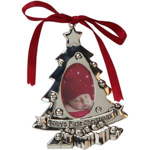 babys 1st christmas tree ornament photo frame