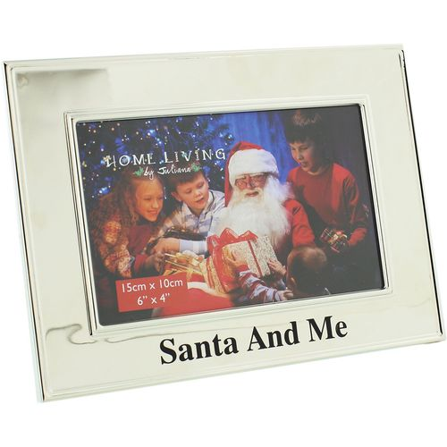"Juliana Home Living Silver Plated Photo Frame 6"" x 4"" - Santa & Me"