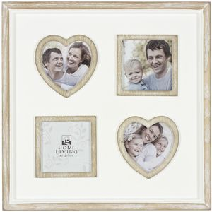 Photo Frame with Hearts & Square Inserts (4)