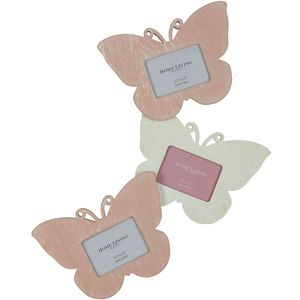 Shabby Chic style Triple Butterfly Photo Frame