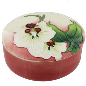 Old Tupton Ware Morning Orchid Trinket Box