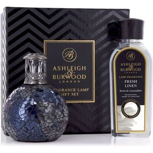 Ashleigh & Burwood Fragrance Lamp Gift Set - Neptune & Fresh Linen