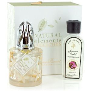 Fragrance Lamp Set Natural Elements: Jasmine Flowers