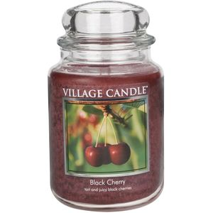 Village Candle Black Cherry Large Jar Candle (26oz)