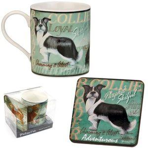 My Pedigree Pals Border Collie Mug & Coaster Set